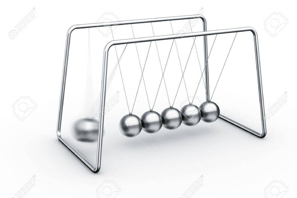 11503859-3d-rendering-of-a-newtons-cradle-with-one-ball-about-to-impact